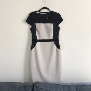 Professional work dress with flattering lines